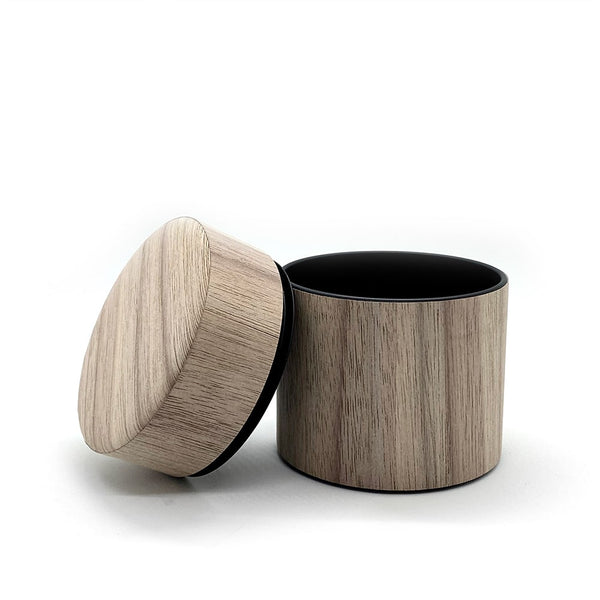 airtight canister in WALNUT veneer for coffee and tea matcha powder tea caddy