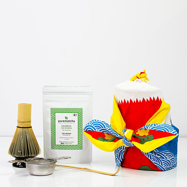 Matcha Whisk Set Furoshiki Gift Bundle