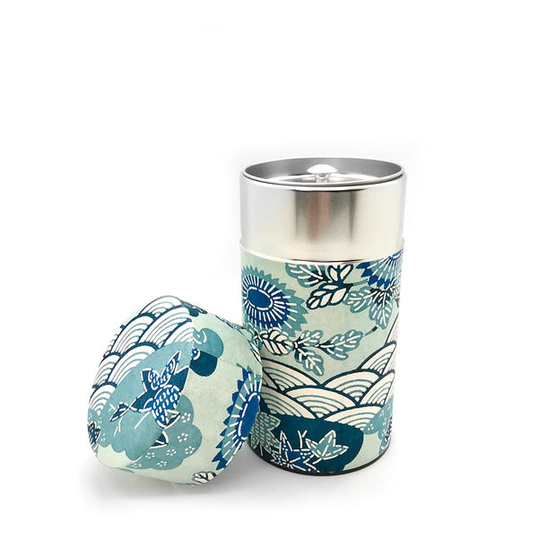 Four Seasons Washi Paper Japanese Tea Canister
