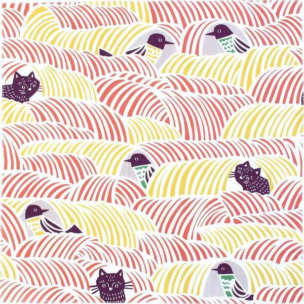45 Cohare Cats & Birds Pink