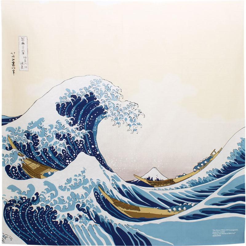 large furoshiki the great wave kanagawa hokusai cloth gift wrapping
