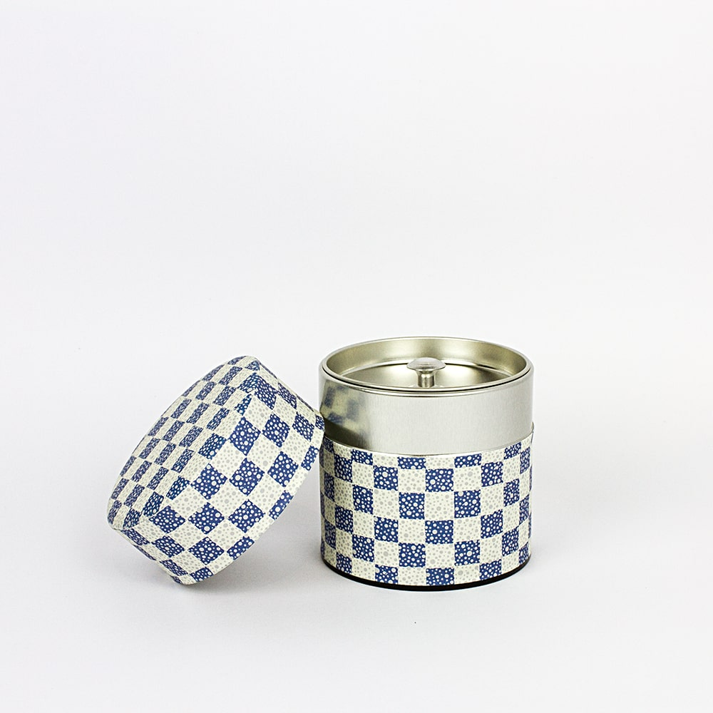 AOI Washi wrapped Japanese tea canister