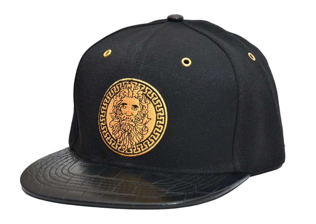 ZEUS EMBROIDERED STRAPBACK CAP