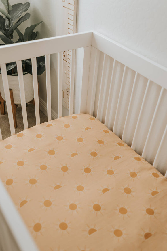 Golden Hour Muslin Crib Sheets