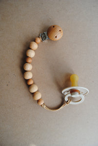 Pacifier Wood Clip - Caia
