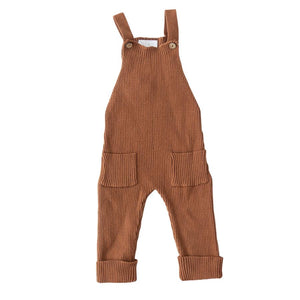 Rust Knit Overalls