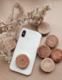 Rattan Phone Pop socket- phone grip
