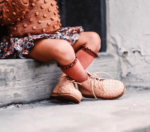 Woven Nudie Leather Boot for Kids (PRE-ORDER)