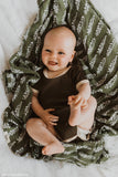 Organic Cotton + Bamboo Muslin Swaddle - FOREST
