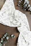 Leaves Sage Green Swaddle