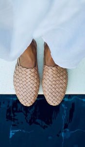 Woven Leather Mule Women's - Nudie (PRE-ORDER)
