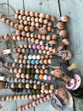 Jacob-Silicone and wood pacifier clips
