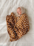 Organic Cotton + Bamboo Muslin Swaddle - PEBBLE