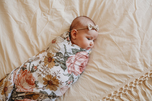 The Mini Scout Floral swaddle
