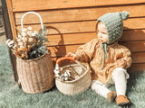 Bolga Basket with leather handle (PRE-ORDER)
