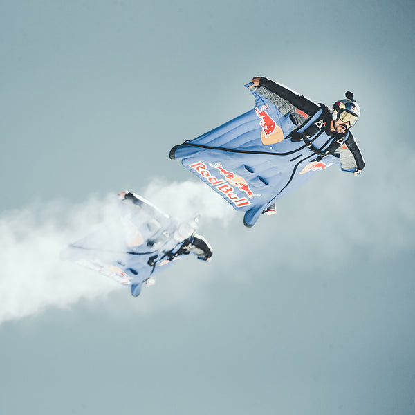 Red Bull Skydive Team wearing Red Bull Spect Eyewear products
