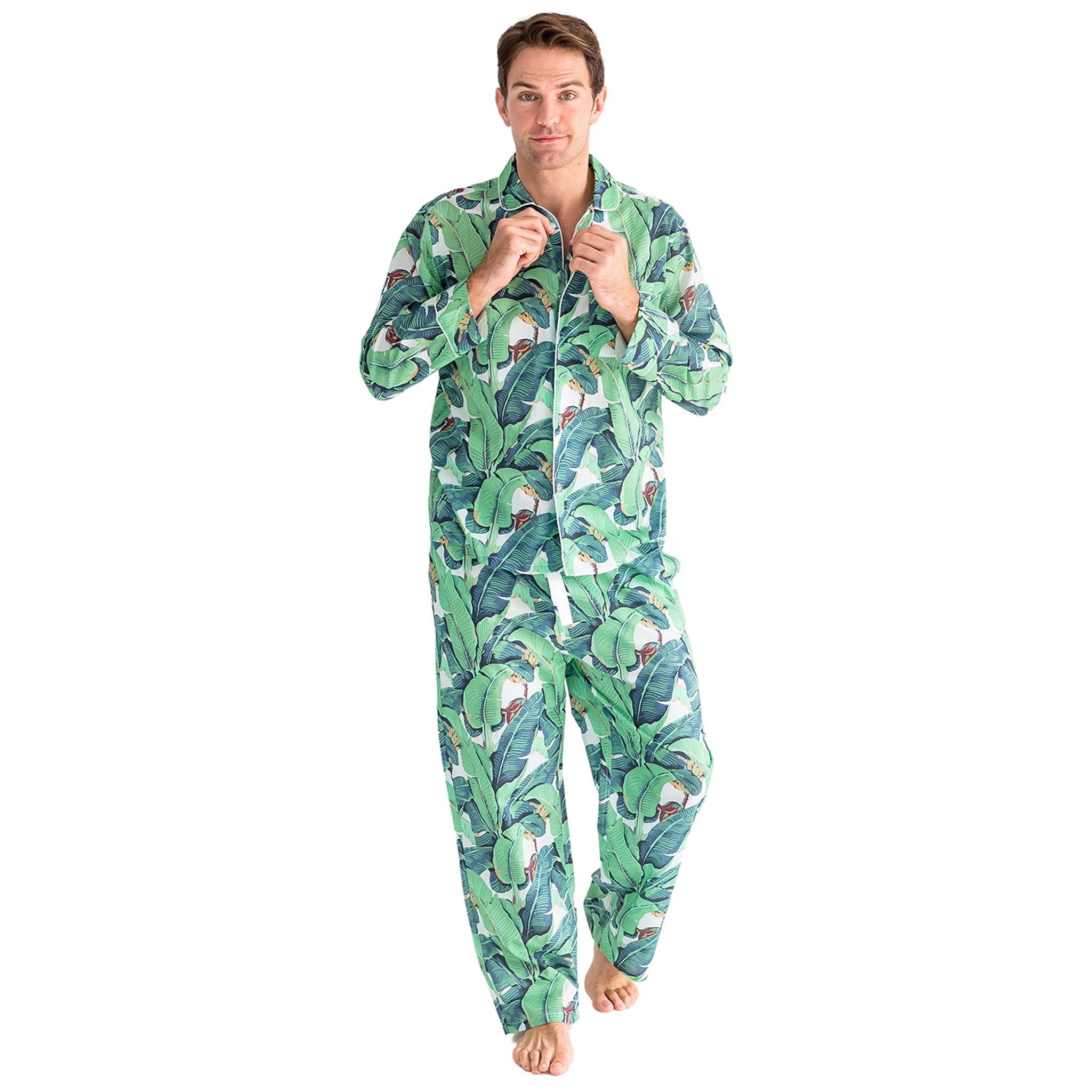 Men's Martinique® Banana Leaf Shirt + PJ Pant Set