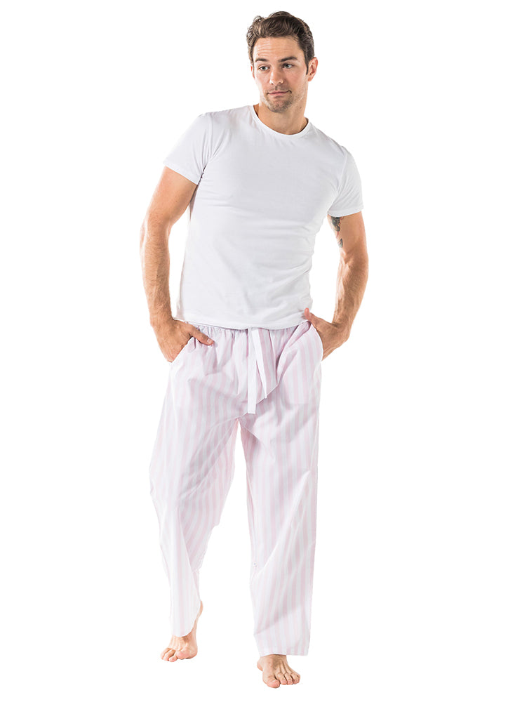 Men's Braddock Pink PJ Pants