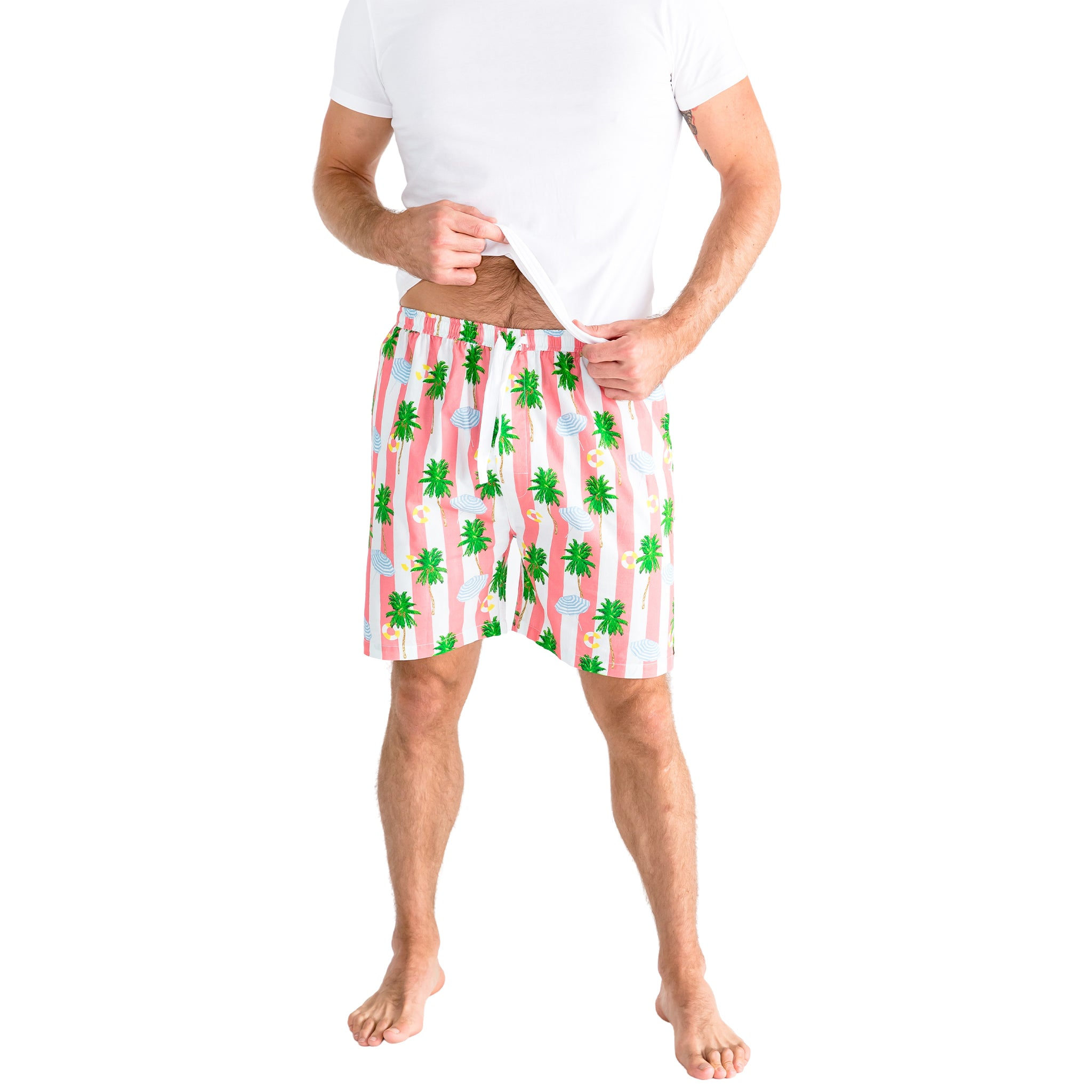 Men's Gray Malin Beach Coral Sleep Shorts