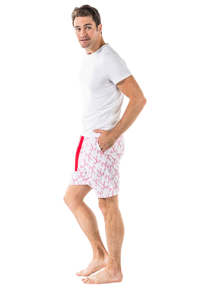 Men's Candy Cane Sleep Shorts