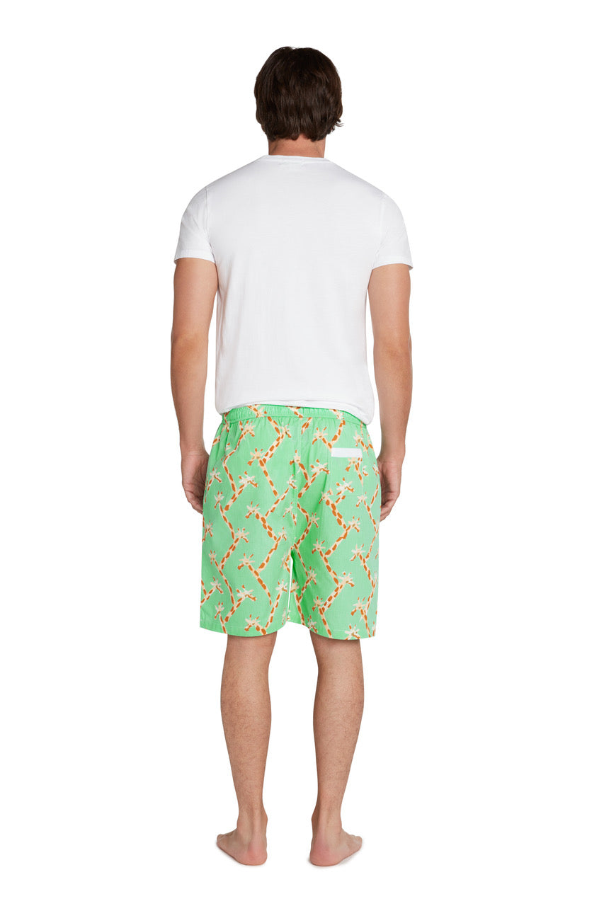 Men's Giraffe Sleep Shorts