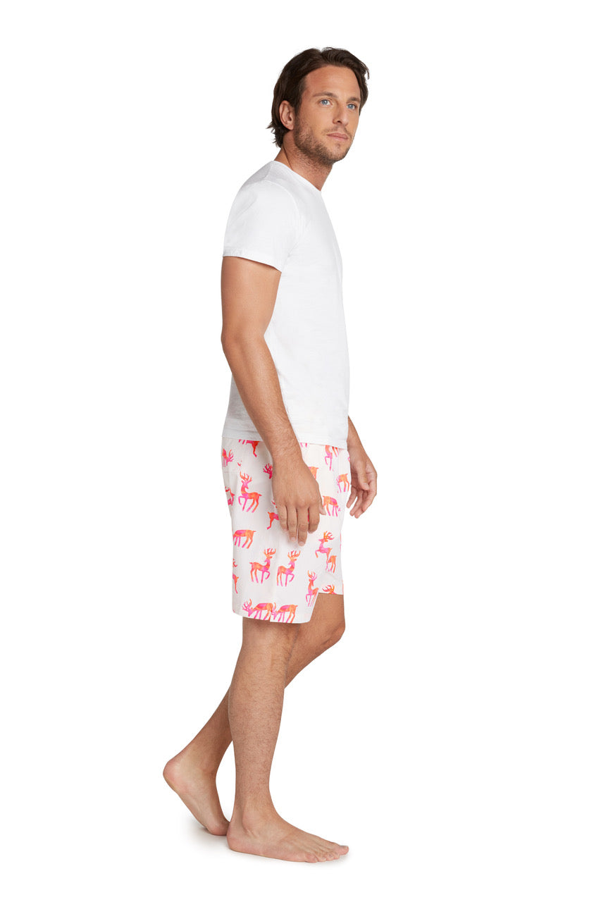 Men's Reindeer Sleep Shorts