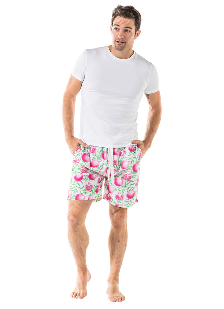 Men's Pomegranate Sleep Shorts