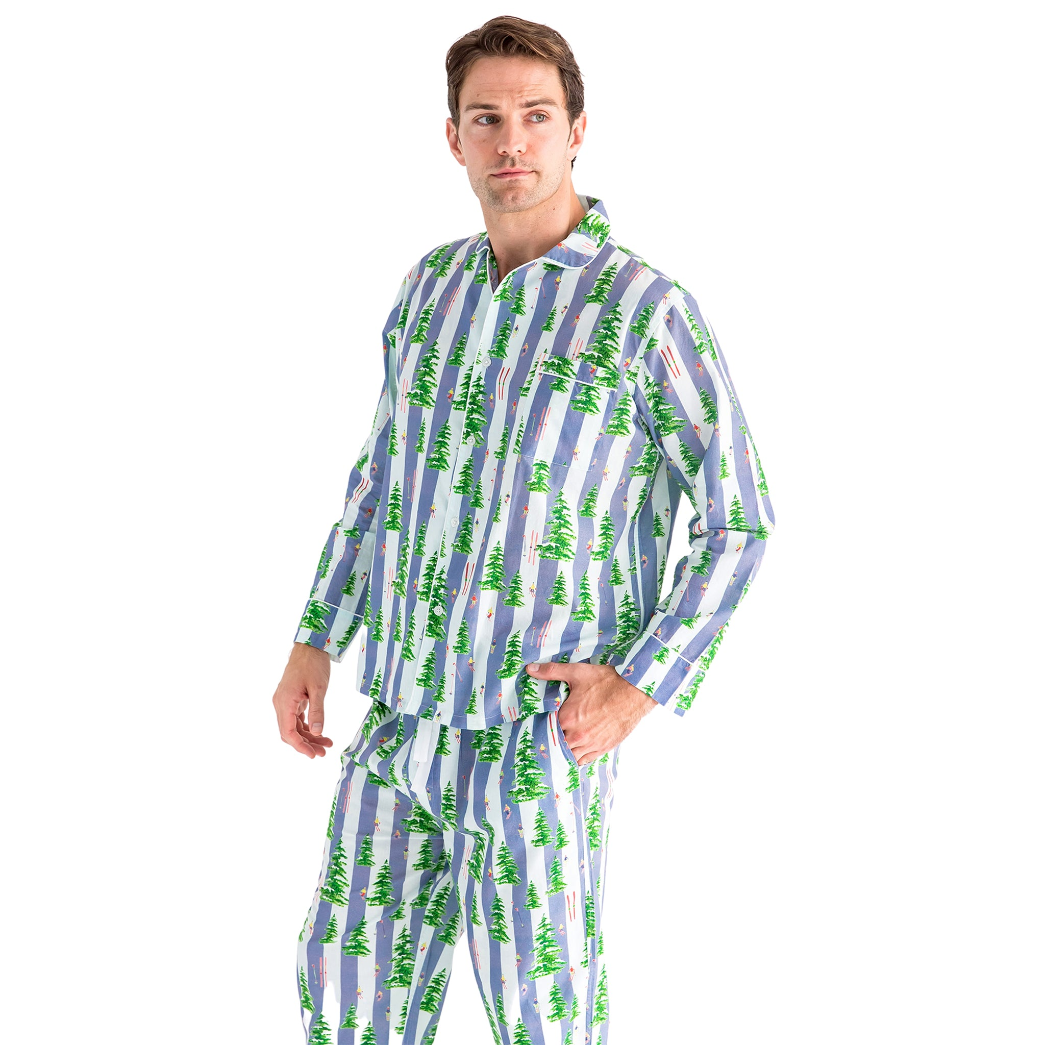 Men's Gray Malin Snow Long PJ Set