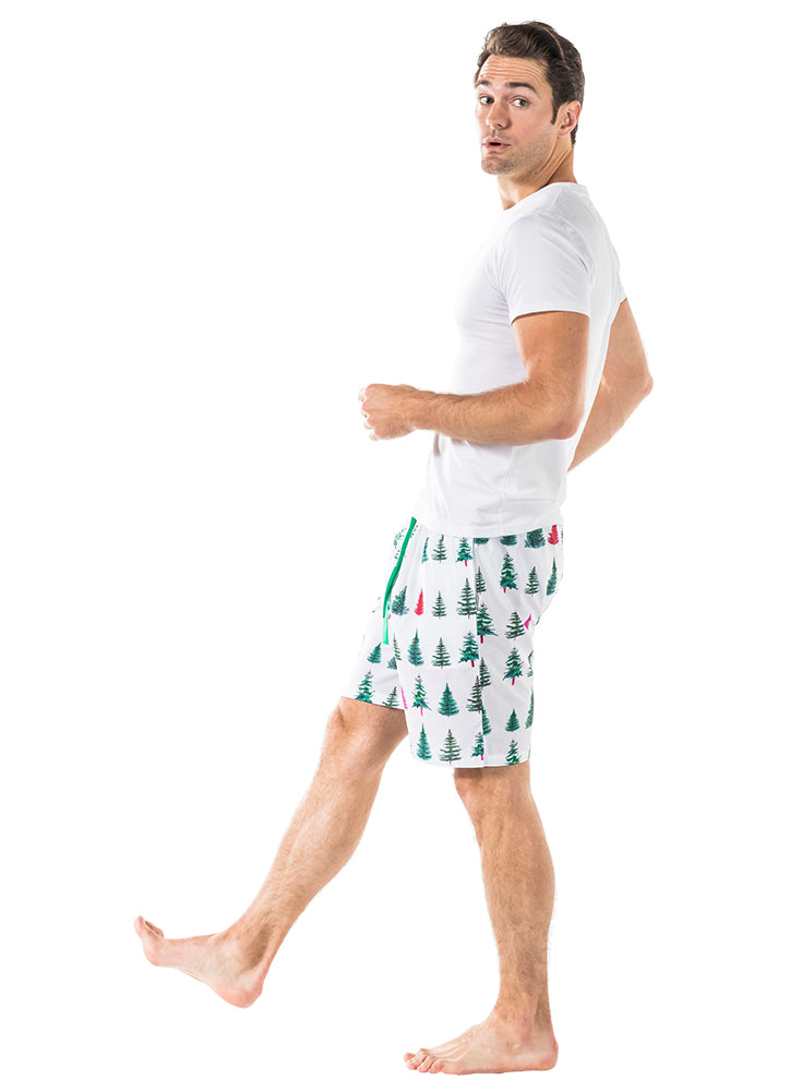 Men's Xmas Tree Sleep Shorts