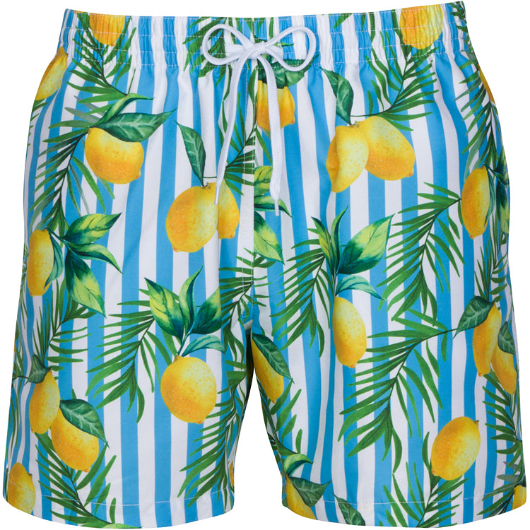 Men's Parker Lemon Stripe Swim Shorts