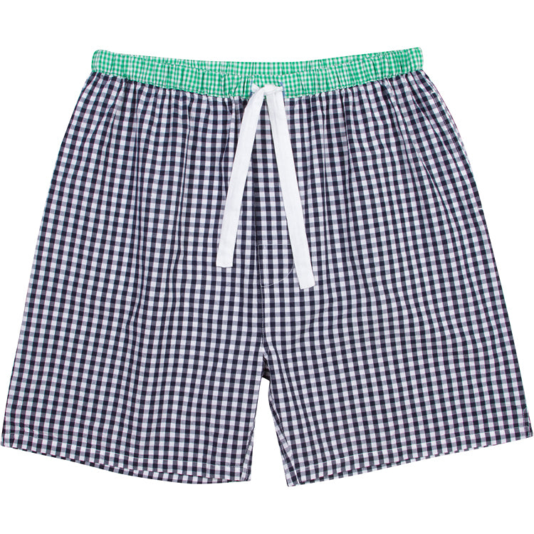 Men's Hepburn Gingham Navy Sleep Shorts