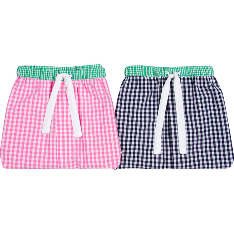 Men's Hepburn Gingham Pink Sleep Shorts