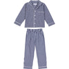 Kids Hepburn Gingham Navy PJ Set
