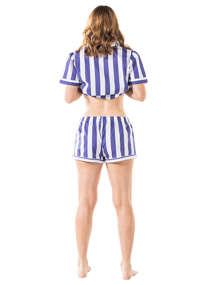 Women's Braddock Navy Shirt + Boxer Set