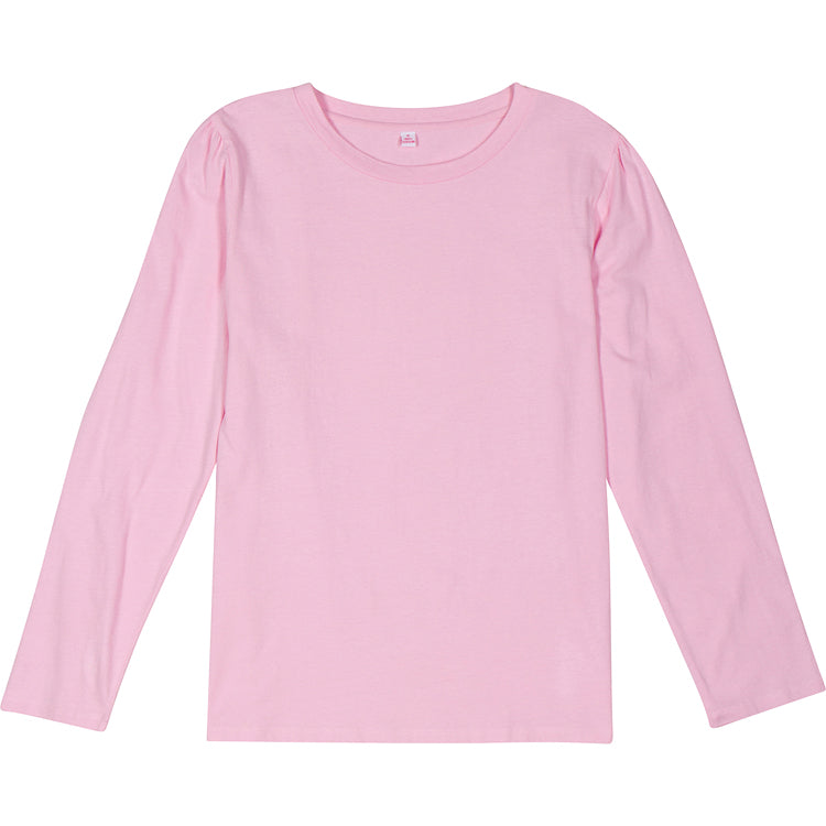 Women's Pink Jersey Long Sleeve Top