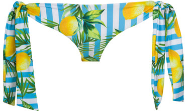 Women's Parker Lemon Stripe Bikini Bottom