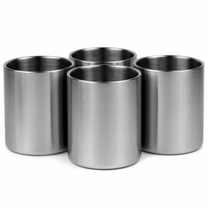Double-Wall, Stainless Steel Whiskey Lowball