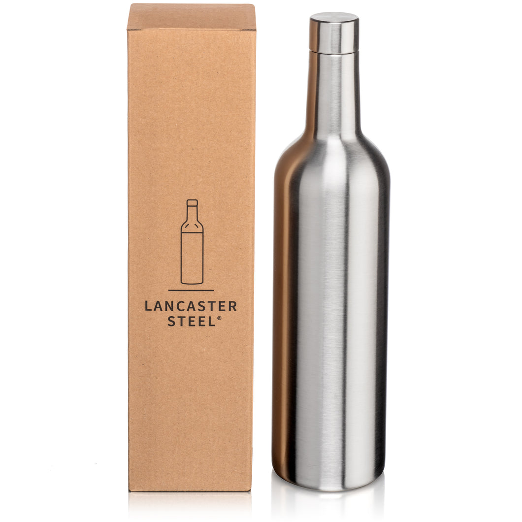 Double-Wall, Stainless Steel Wine Growler