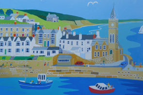'Across to Porthleven Cliffs' by Richard Lodey