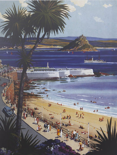 'Penzance Gateway to West Cornwall' GWR Poster