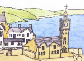 Porthleven Clocktower Placemat