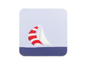 Red Spinnaker Coaster