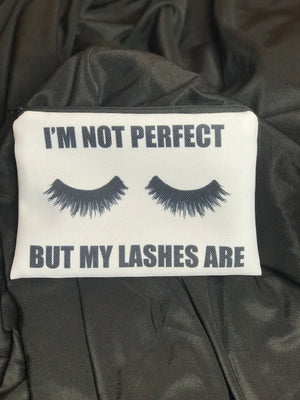 I'm Not Perfect But My Lashes Are Cosmetic bag