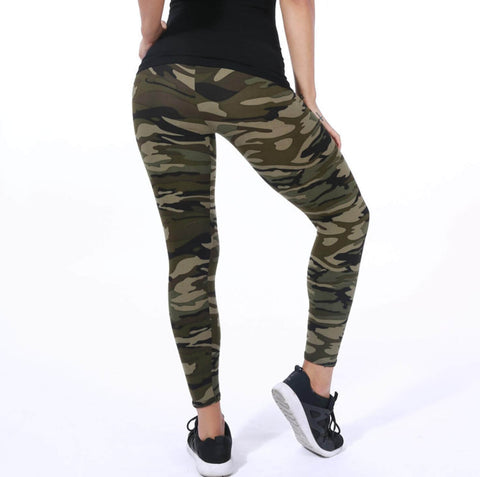 Image of Milk Silk High Stretch Camouflage Leggings