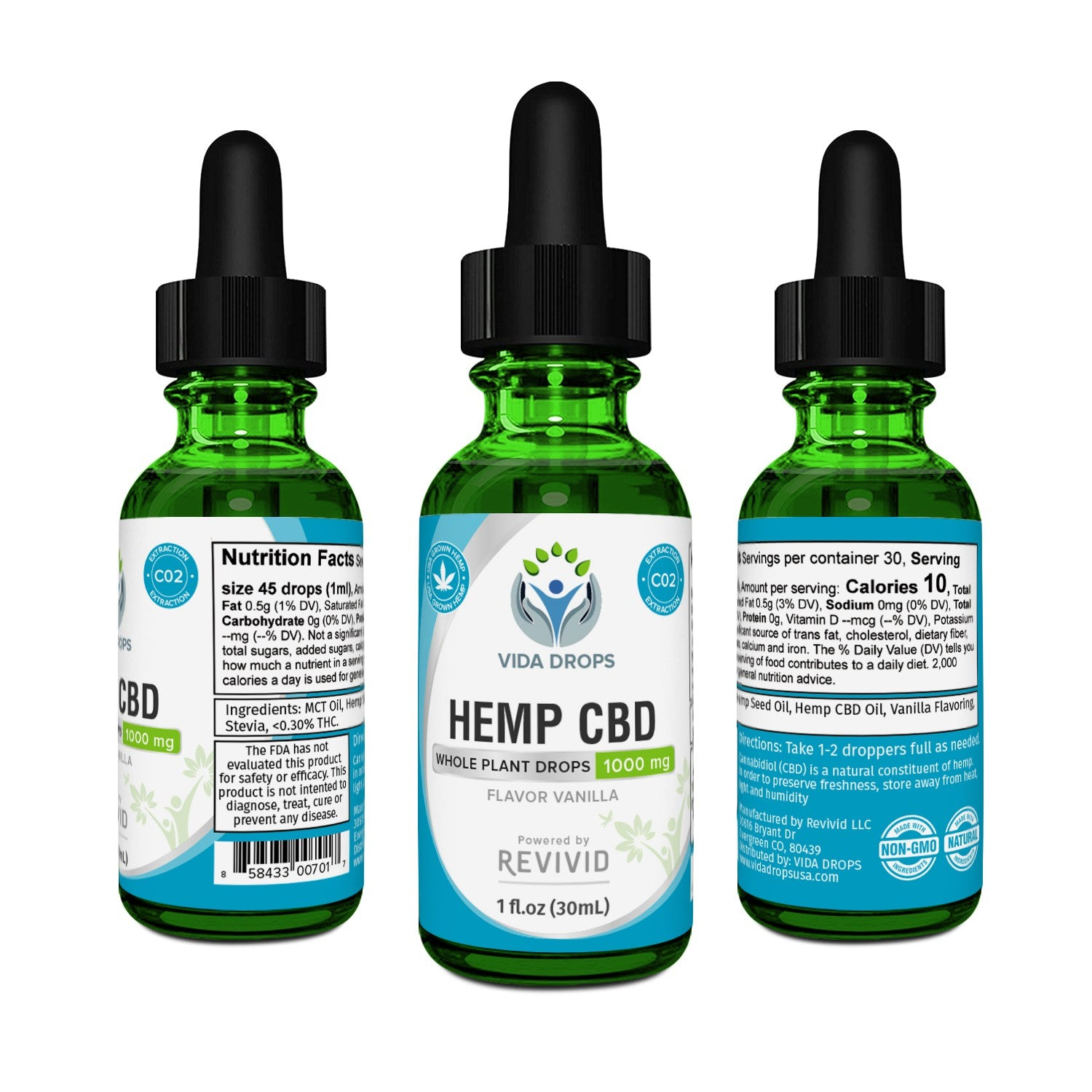 Vida Drops Hemp CBD Oil