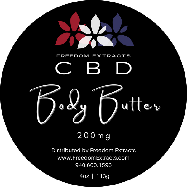 Freedom Extracts CBD Body Butter 200mg - 4oz