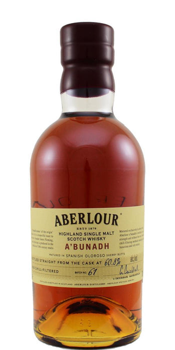 Aberlour A'Bunadh Single Malt 60,8% Batch no. 61