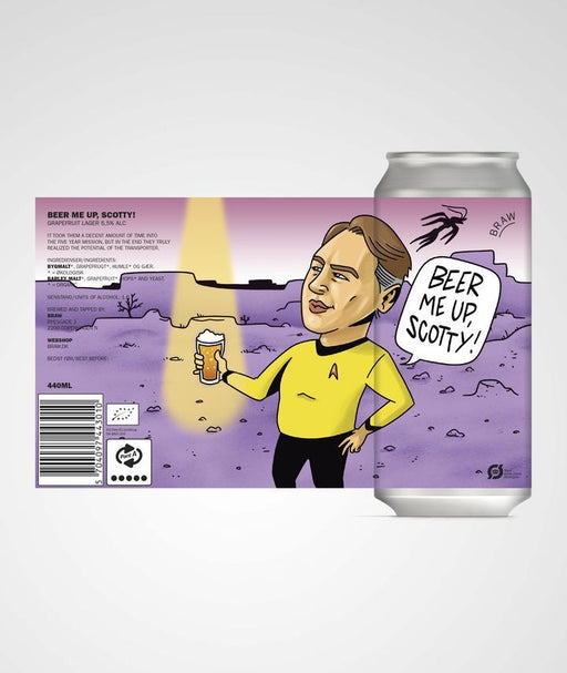 BRAW Beer Me UP Scotty Grapefruit Lager 5,5% 44cl