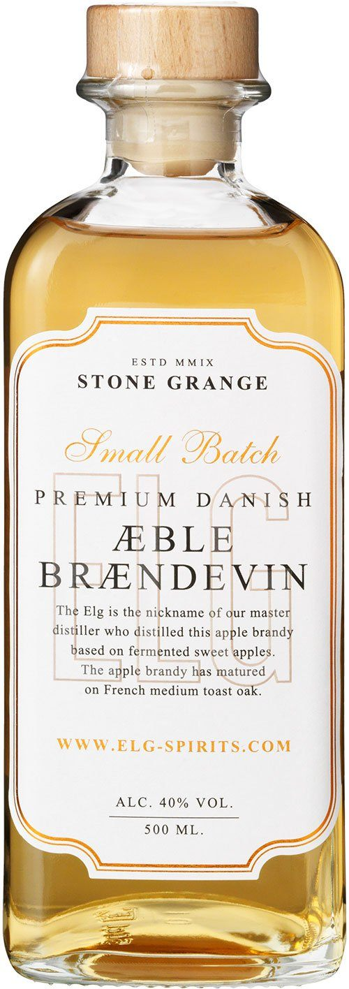 Elg Æblebrændevin Danish Premium Small Batch 40% 50cl