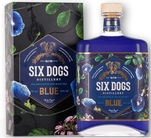 Six Dogs Blue Premium Gin 70cl 43%